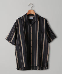 <UNITED ARROWS> オープンカラー ストライプ シャツ