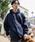 PUBLUX(パブリュクス)の「PUBLUX/パブリュクス【ユニセックスアイテム】12oz HEAVY WEIGHT SWEAT PARKA/ヘビーウェイトビッグシルエットスウェットパーカ—/オーバーサイズフーディ—(パーカー)」|ネイビー