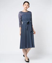 MEW'S REFINED CLOTHES(ミューズリファインドクローズ)のレース切替ドレス(ドレス)