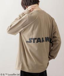 WEB限定 STAR WARS/スター・ウォーズ 別注 バッグロゴプリント ビッグシルエット L/S カットソーベージュ