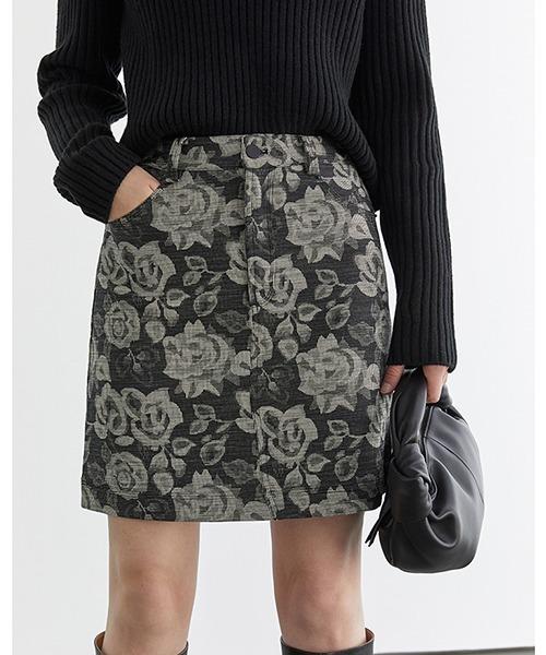 【Fano Studios】【2021SS】Floral short skirt FD20B003