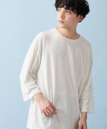 ビッグシルエットドロップショルダー ビッグシルエット とろみカットソー(summer sleeve)ホワイト