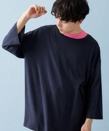 ビッグシルエットドロップショルダー ビッグシルエットカットソー(summer sleeve)ダークネイビー