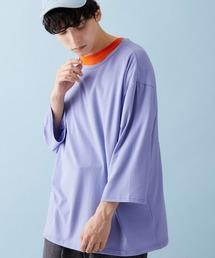 ビッグシルエットドロップショルダー ビッグシルエットカットソー(summer sleeve)ライトブルー