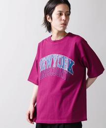 WEGO(ウィゴー)のWEGO/レトロロゴビッグシルエットTシャツ(Tシャツ/カットソー)