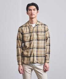 UAST ダブルポケット オープンカラー チェックシャツ