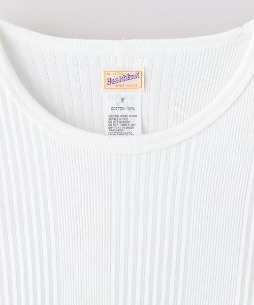 【WEB限定】Healthknit/ヘルスニット Broadrib Crewneck T-SHIRTS/ブロードリブ クルーネックTシャツ