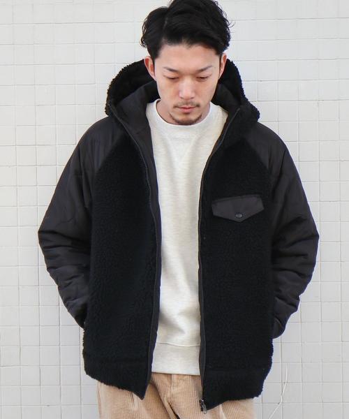 ボアフリースリバーシブルキルティングジャケット