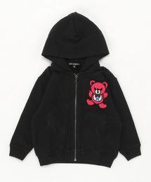 HYS BEAR刺繍 ビッグパーカー【XS/S/M】ブラック