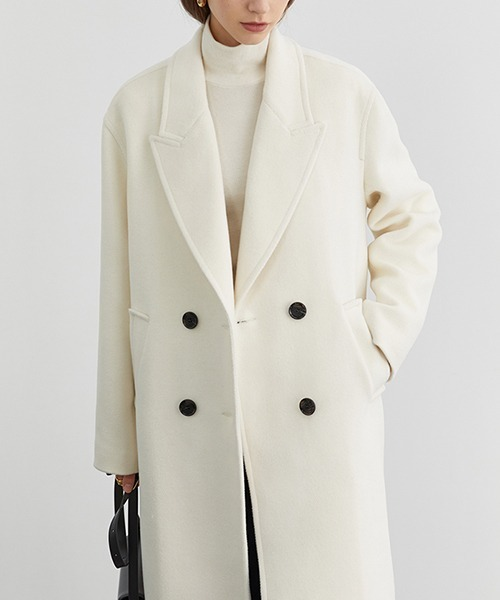 【Fano Studios】【2021AW】Oversized double breasted batting chester coat FD20W182