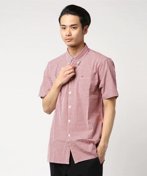 ギンガムチェック半袖シャツ