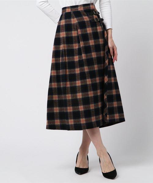 カウくる シャギーチェックラップ スカート(スカート) QUANT MARY|MARY -ファッション-,MARY QUANT(マリークヮント)のファッション通販, JOYDREAM DESIGN:84b3041e --- fahrservice-fischer.de