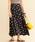 BEAUTY&YOUTH UNITED ARROWS(ビューティアンドユースユナイテッドアローズ)の「BY∴ リネンドットフレアロングスカート -手洗い可能-(スカート)」|ネイビー