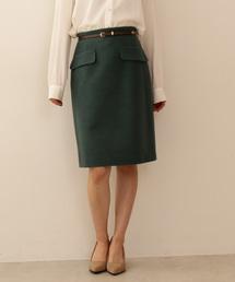 PROPORTION BODY DRESSING(プロポーションボディドレッシング)のベルト付きフラップタイトスカート(スカート)
