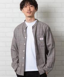 SMITH'S別注バンドカラー長袖シャツ#