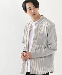 SMITH'S別注バンドカラー長袖シャツ