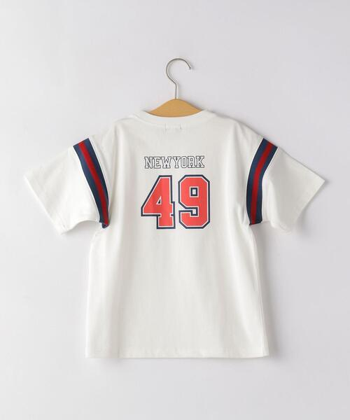 AHラインリブロゴプリントビッグTシャツ