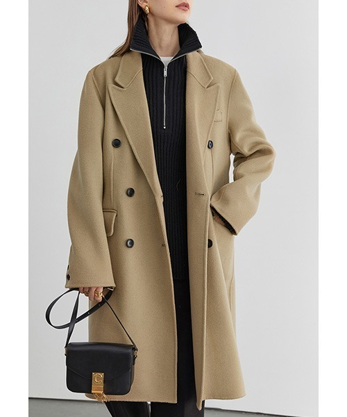 【Fano Studios】【2021AW】River tailored double-breasted chester coat FD20W183