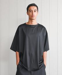 <H>SHINY BOAT NECK SHORT SLEEVE PULLOVER/カットソー