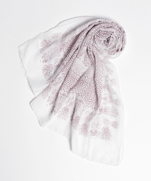 サークルプリントスカーフ