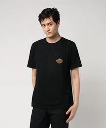 HYS MOTELプリント ポケ付Tシャツ