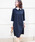 BE NEAT(ビーニート)の「PICCIN別注【日本製】衿&カフス付きワンピース(ワンピース)」 ネイビー