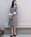 BE NEAT(ビーニート)の「PICCIN別注【日本製】衿&カフス付きワンピース(ワンピース)」 グレー