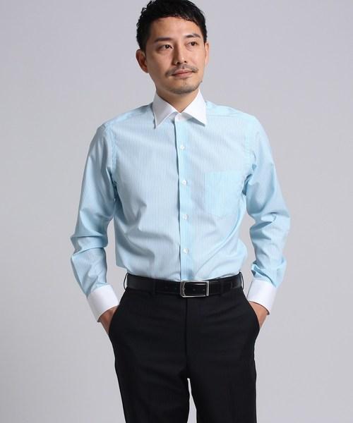カラーストライプシャツ[ メンズ シャツ ビジネス ストライプ ]
