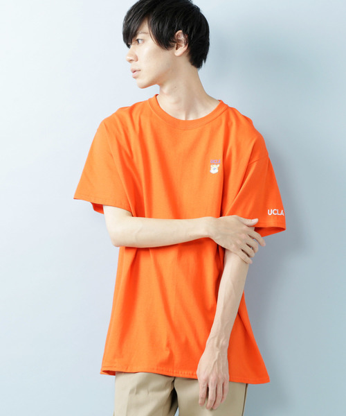 MONO-MART×UCLA 別注 ロゴ刺繍 プリント半袖Tee オーバーサイズカットソー