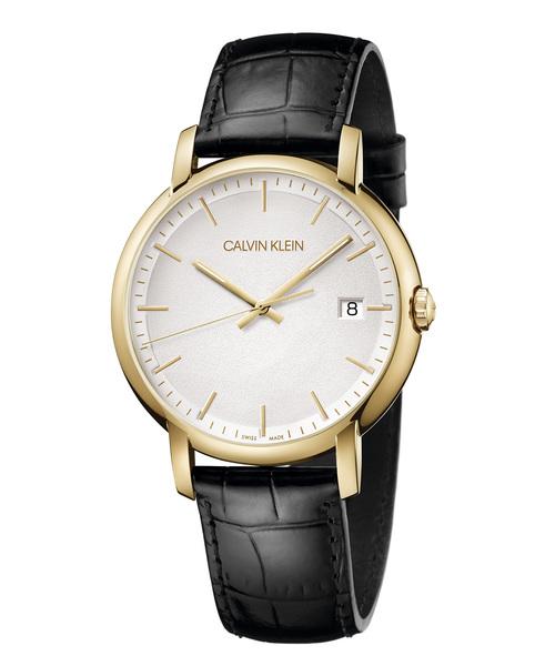 [カルバンクライン] CALVIN KLEIN 腕時計 Established(エスタブリッシュド) 3針 イエローゴールド×シルバー
