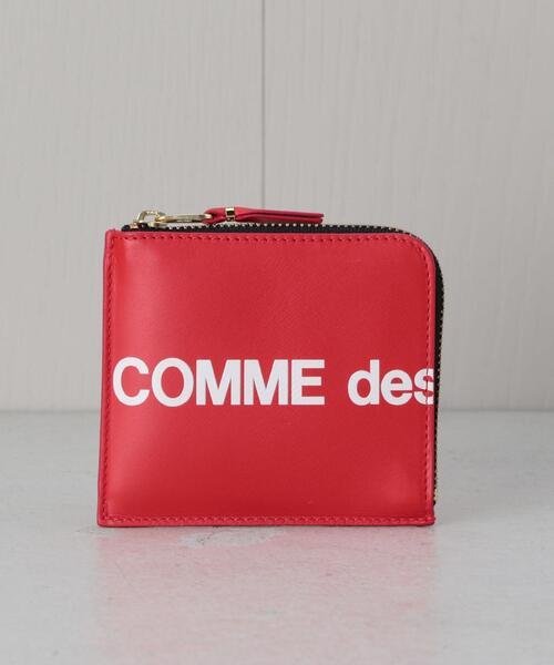 <Wallet COMME des GARCONS>LOGO ZIP MINI WALLET/ウォレット.