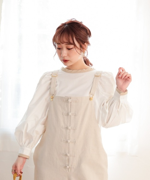 piping ribbon blouse