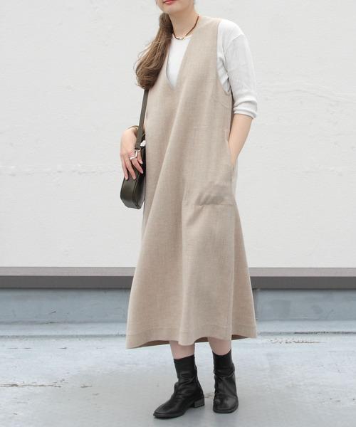 LE GLAZIK/ル グラジック スリーブレスVネックドレス SLEEVELESS V-NECK DRESS #LG-G0010NEN