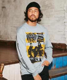 CR/ROCK'N BONES COVER プリント リブ付Tシャツ