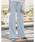 Re:EDIT(リエディ)の「[低身長向けSサイズ対応][高身長向けMサイズ対応]リブカットソーリラックスワイドパンツ(その他パンツ)」|ブルー