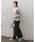 Re:EDIT(リエディ)の「[低身長向けSサイズ対応][高身長向けMサイズ対応]リブカットソーリラックスワイドパンツ(その他パンツ)」|詳細画像