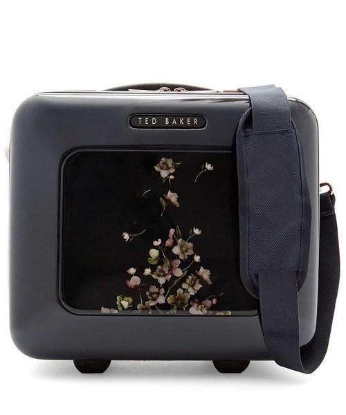 Ted Baker(テッドベーカー)の「AMORT 新作 限定 花柄バニティケース(スーツケース/キャリーバッグ)」 ダークブルー