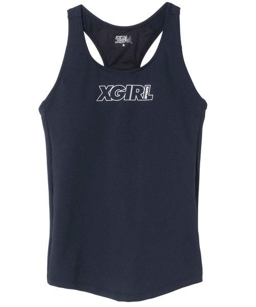 X-girl(エックスガール)の「XGL SPORTS BRA TANK(タンクトップ)」|ブラック