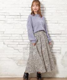 INGNI(イング)の単色レオパード柄ギャザー/スカート(スカート)