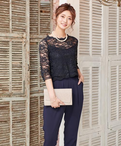 【上品】 【セール セットアップ】レース セットアップ パンツ ドレス フォーマル【2点セット】結婚式 パンツ フォーマル パーティードレス(ドレス)|DRESS LAB(ドレスラボ)のファッション通販, オオウチマチ:ae8c07e3 --- fahrservice-fischer.de