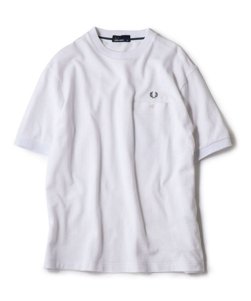 【Begin5月号掲載】FRED PERRY: SHIPS別注 ピケ ポケット Tシャツ ■