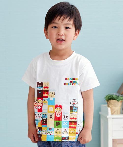 ANPANMAN KIDS COLLECTION(アンパンマンキッズコレクション)の「【アンパンマン】ブロックラボTシャツ(Tシャツ/カットソー)」|オフホワイト