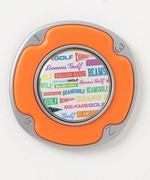 BEAMS GOLF(ビームスゴルフ)の「BEAMS GOLF / マルチロゴ マーカー&台座(ゴルフグッズ)」|オレンジ