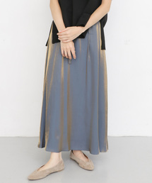 KBF(ケイビーエフ)のウエストリボンメタリックスカート(スカート)