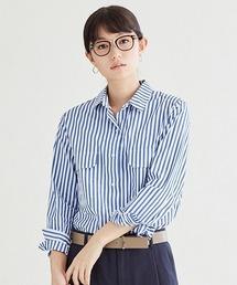 SIPULI(シプリ)のハイデンスエジプトコットン ストライプシャツ(シャツ/ブラウス)