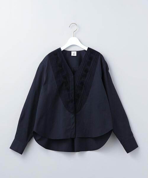 <6(ROKU)>V NECK TUCK SHIRT 2/シャツ
