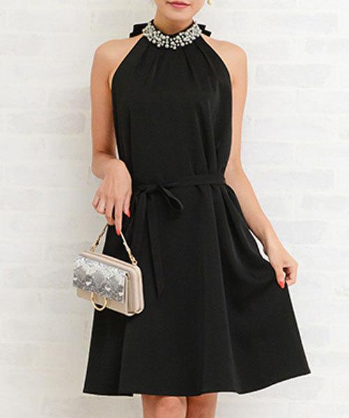 【海外限定】 【セレモニー・パーティー・結婚式・二次会 GeeRA・謝恩会など】リボンベルト付ビジュー使いドレス(ドレス)|GeeRA(ジーラ)のファッション通販, ハイカラン屋:d9ce3b76 --- pyme.pe