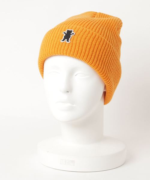 eb614389c2c GRIZZLY(グリズリー)の「OG BEAR PATCH FOLD KNIT CAP BEANIE(ニットキャップ