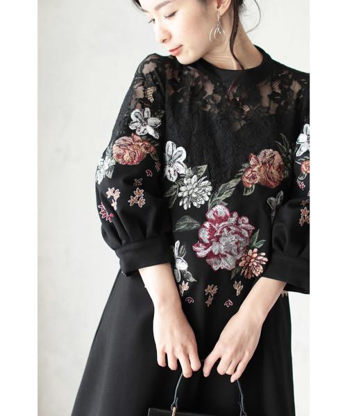 値段が激安 豪華に施した花刺繍のエレガンスワンピース(ワンピース)|cawaii(カワイイ)のファッション通販, 戸田家具:b5c9254e --- gardareview.ie