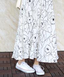 Bou Jeloud(ブージュルード)のアートフラワーロングスカート(スカート)